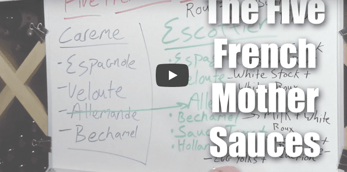 Understanding The Five French Mother Sauces – A Brief Overview